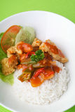 Pork sweet and sour pork saia food. Royalty Free Stock Photo