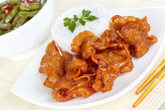 Pork in sweet and sour sauce Stock Photography