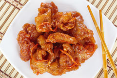 Pork in sweet and sour sauce Stock Image