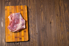 Pork is on a table Royalty Free Stock Image