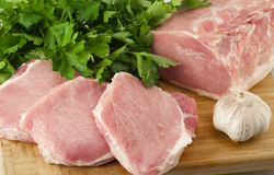 Pork tenderloin with herbs Royalty Free Stock Photo