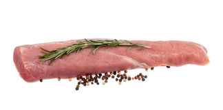 Pork tenderloin. Isolated on white background royalty free stock images