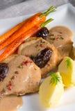 Pork tenderloin in plum sauce Stock Photos