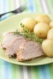 Pork tenderloin with potato Stock Photos