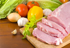 Pork tenderloin prepared for cooking Stock Image