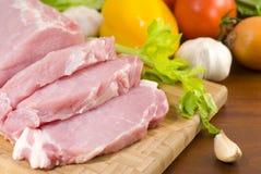 Pork tenderloin prepared for cooking Stock Photo