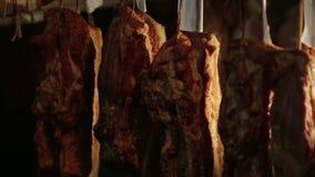 Pork tenderloin ready to eat stock video
