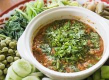 Pork and Tomato Relish Stock Image