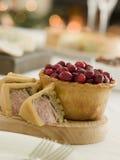 Pork Turkey And Stuffing Pie Cranberry Pie Stock Photos