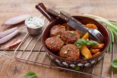 Pork or turkey meat balls Stock Images