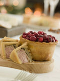 Pork Turkey and Stuffing Pie Cranberry pie Stock Photos