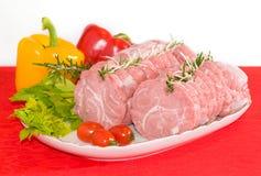 Pork or veal roll Stock Photos