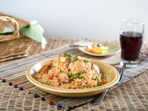 Pork with vegetable fried rice Stock Images