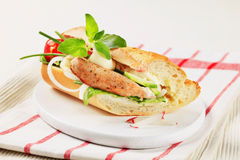 Pork and vegetable sandwich Royalty Free Stock Photos
