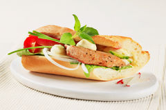 Pork and vegetable sandwich Stock Photography