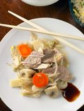 Pork and vegetable stir-fried meal royalty free stock images