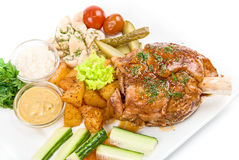 Pork with vegetables Royalty Free Stock Image