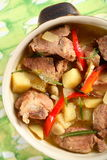 Pork with vegetables Stock Images