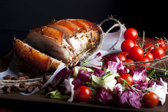 Pork and Vegetables Stock Photo