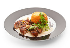 Pork with Vegetables Royalty Free Stock Photography