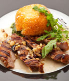 Pork with Vegetables close up Stock Images