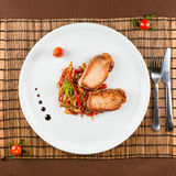 Pork with vegetables Stock Photography