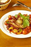 Pork with vegetables in tomato sauce Royalty Free Stock Photography
