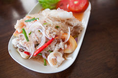 Pork with vermicelli and salad Royalty Free Stock Images