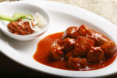 Pork Vindaloo - Hot and Sour Pork from Western Royalty Free Stock Images
