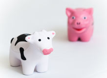 Pork vs beef Royalty Free Stock Photos