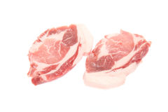 Pork in a white background Royalty Free Stock Photography