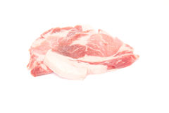 Pork in a white background Royalty Free Stock Photo
