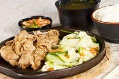 Pork yakiniku Stock Photos