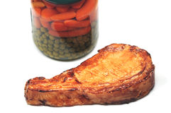 Porkchop e verdure immagine stock libera da diritti