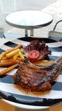 Porkchop Kurobuta steak Royalty Free Stock Photography