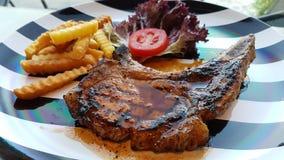 Porkchop Kurobuta steak Stock Photos
