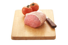 Porkchop and tomato Royalty Free Stock Image