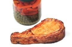 Porkchop and vegetables Royalty Free Stock Image