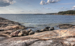 Porkkalanniemi. Beautiful seaside at Porkkalanniemi in Finland Royalty Free Stock Images