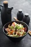 Porkom met zalm en groenten Royalty-vrije Stock Foto