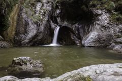 Porlezza Waterfall stock images