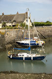Porlock测流堰港口,英国 免版税库存图片