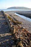Porlock bay in winter. Somerset, England Royalty Free Stock Images