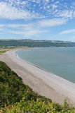 Porlock beach Somerset England UK near Exmoor view from Hurlstone Point to Porlock Weir Stock Photography