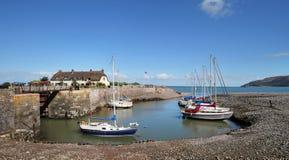 Porlock Harbour in Somerset, England Stock Photos