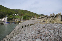 Porlock Weir Harbour Stock Photo