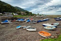 PORLOCK WEIR SOMERSET OCTOBER 2013 - View of Porlock Weir at low Stock Images