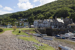 Porlock weir in Somerset Royalty Free Stock Image