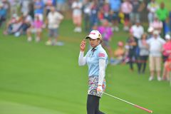 Pornanong Phatlum in Honda LPGA Thailand 2018. Pornanong Phatlum of Thailand in Honda LPGA Thailand 2018 at Siam Country Club, Old Course on February 24, 2018 in Stock Photos