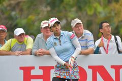 Pornanong Phatlum in Honda LPGA Thailand 2018. Pornanong Phatlum of Thailand in Honda LPGA Thailand 2018 at Siam Country Club, Old Course on February 24, 2018 in Royalty Free Stock Photo